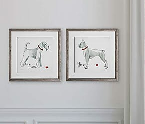 WEXFORD HOME 2-2 Piece Set Art Print, 16x16, Must Love Dogs 2