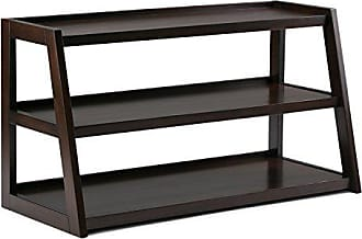 Simpli Home Simpli Home 3AXCSAW-04-BR Sawhorse Solid Wood 48 inch wide Modern Industrial TV media Stand in Dark Chestnut Brown For TVs up to 50 inches