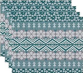 E by Design E by design PT4HG957RE1 Fair isle, Geometric Print Placemat 18 x 14 Red