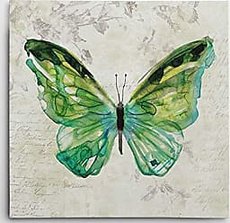 WEXFORD HOME Carol Robinson Butterfly Sketch III Gallery Wrapped Canvas Wall Art, 32x32