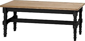 Manhattan Comfort Jay Collection Traditional Wooden Dining Table Bench With Trim Finish, Black/Wood