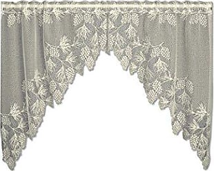 Heritage Lace Woodland 68-Inch Wide by 40-Inch Drop Swag Pair, Ecru