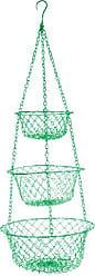 Fox Run Craftsmen Fox Run 52103 Three Tier Hanging Wire Baskets, One Size, Green