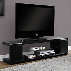 Monarch Specialties Monarch 60 in. TV Console with Tempered Glass - I 3536