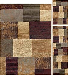Tayse Universal Rugs 105210 Multi 3 Pc. Set 5-Feet by 7-Feet, 20-Inch by 60-Inch and 20-Inch by 32-Inch Area Rug, 3-Piece