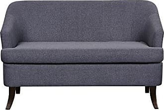 US Pride Furniture Ultra Modern Fabric Upholstered Loveseat with Low Arms and Splayed Leg Finish Charcoal