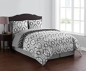 VCNY Jackson Bed in a Bag by VCNY Home Black/White, Size: King - JKS-8CS-KING-IN-BW