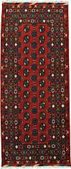 Nain Trading Afghan Akhche Baghlan Rug 68x30 Runner Dark Grey/Rust (Afghanistan, Hand-Knotted, Wool)