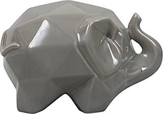 Varaluz Casa 401A14GR Origami Zoo Ceramic Elephant Statue - Gray