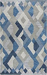 Rizzy Home Idyllic Collection Wool Natural /Gray/Rust/Blue Geometric Area Rug 26 x 8
