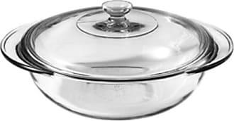 Fox Run Craftsmen Anchor Hocking 77891 Fire-King Casserole Baking Dish with Lid, Glass, 2-Quart