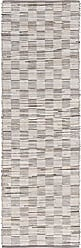 Surya API4001-268 Apis Medium Gray Area Rug, 26 x 8, Medium Gray/Light Gray/Ivory/Taupe