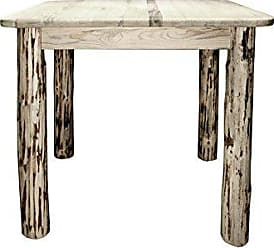 Montana Woodworks MWDT4PSV36 Montana Collection Counter Height Square 4 Post Dining Table, Clear Lacquer Finish