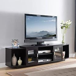 FURNITURE OF AMERICA Baselle Contemporary 72-inch TV Stand by FOA (Cappuccino)