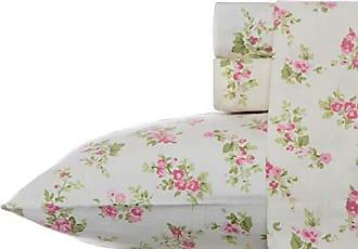 Revman International Laura Ashley Audrey Pink Flannel Sheet Set, Twin