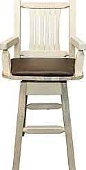 Montana Woodworks MWHCBSWSCASSADD Homestead Collection Captains Barstool with Back & Swivel, Ready to Finish with Upholstered Seat, Saddle Pattern