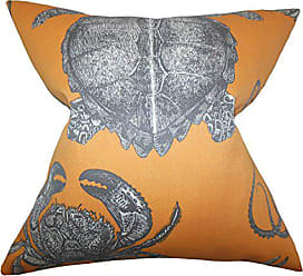 The Pillow Collection Aeliena Coastal Bedding Sham Orange King/20 x 36