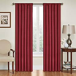 Eclipse Blackout Curtains for Bedroom - Kendall 42 x 84 Insulated Darkening Single Panel Rod Pocket Window Treatment Living Room, Ruby