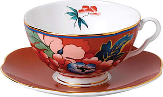 Wedgwood Paeonia Teacup & Saucer - Red