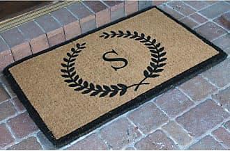 First Impression Divina Handwoven Monogrammed Outdoor Doormat - FM2003A