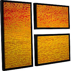 ArtWall Charlie Bairds About 2500 Tigers, 2008, 3 Piece Floater Framed Canvas Flag Set, 36 x 48