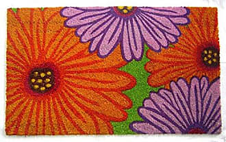 Geo Crafts Vinyl Back Zinnia Doormat