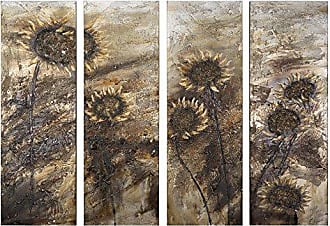 Yosemite Home Decor FCC5245 Sunflowers Painted Wall Art