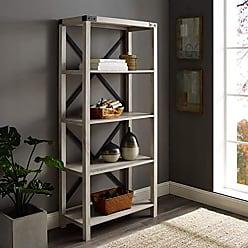 Walker Edison WE Furniture AZS64MXWO Bookshelf, 64, White Oak