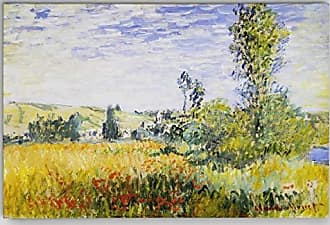 WEXFORD HOME Claude Monet Landscape at Vetheuil Wrapped Canvas Art Print, Multicolor