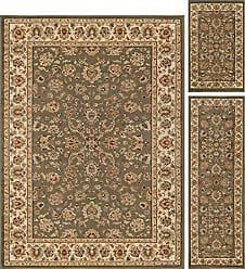 Tayse Davenport Traditional Oriental Green 3-Piece Area Rug Set, 3-Piece Set