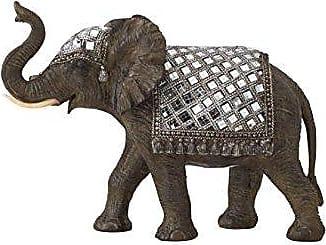 Deco 79 Benzara 44284 Polystyrene Mirror Elephant Animal Statue