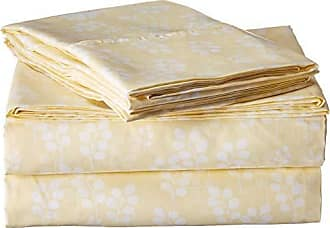 iEnjoy Home 4 Piece Sheet Set Wheatfield Patterned, Full, Ivory