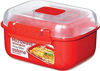 28.7 x 21.9 x 7 cm rouge Sistema Micro-ondes facile Bacon