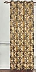 Ben&Jonah Ben & Jonah Simple Elegance by Ben&Jonah Semi-Blackout Two-Tone Floral (54 W x 84 L) -Brown Window Curtain Panel