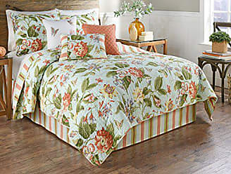 Ellery Homestyles WAVERLY Laurel Springs 4-Piece Opal Reversible Quilt Collection, King