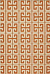 Momeni Rugs LAGUALG-05ORG5080 Laguna Collection, 100% Wool Hand Woven Flatweave Contemporary Area Rug, 5 x 8, Orange
