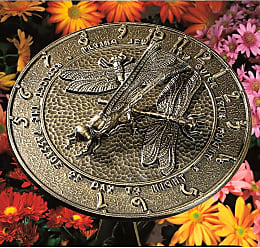 Whitehall Made in America Recycled Aluminum Dragonfly Sundial