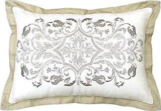 Ellery Homestyles Beautyrest Pemberley Embroidered Pillow, 12x18, Beige