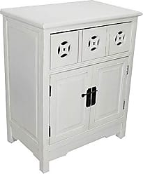 Heather Ann Creations The Danielson Collection Contemporary Style Multi-Use Double Door Accent Cabinet, Antique White