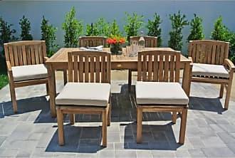Willow Creek Designs Huntington 7 Piece Rectangular Teak Patio Dining Set