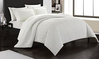 Chic Home Jazmina 7 or 5 PC Comforter Set - White - Size: Twin
