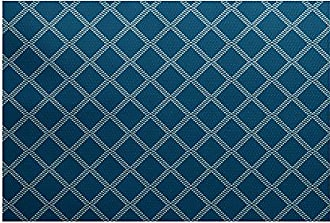E by Design E by design RHGN670BL11-35 Diamond Dots, Geometric Print Indoor/Outdoor Rug, 3 x 5, Blue/Teal