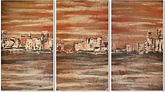 The Stupell Home Décor Collection Stupell Home Décor The Waterfront 3-Piece Triptych Wall Plaque Set, 11 x 0.5 x 17, Proudly Made in USA