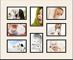 Art to Frames Art to Frames Double-Multimat-427-824/89-FRBW26079 Collage Photo Frame Double Mat with 8 - 4x6 Openings and Satin Black Frame