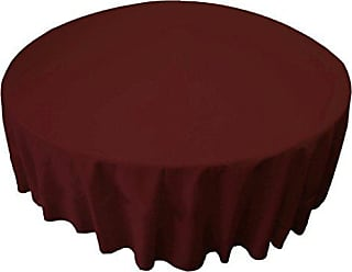 LA Linen Tablcloth Polyester Poplin Tablecloth 72-Inch Round, Burgundy