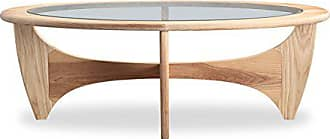 Kardiel Mid-Century Modern G-Plan Plywood Coffee Table, Natural Ash Wood
