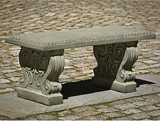 Campania International Outdoor Campania International Classic Garden Cast Stone Backless Garden Bench French Limestone - BE-115-FL