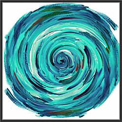 Ptm Images Turquoise Tornado Framed Wall Art Orange - 9-89066