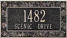 Whitehall Personalized Aspen Address Plaque In Cast Aluminum, in Black