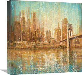 Global Gallery Champagne City Crop Wall Art - GCS-472177-3636-142